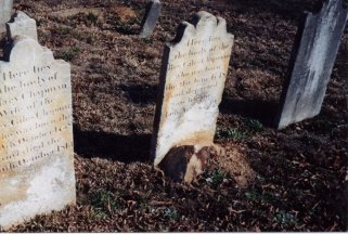 Chapman family graves, including early Universalist minister, the Rev. Giles Chapman