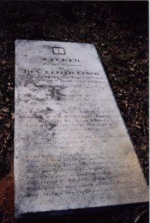 Elijah Linch's grave